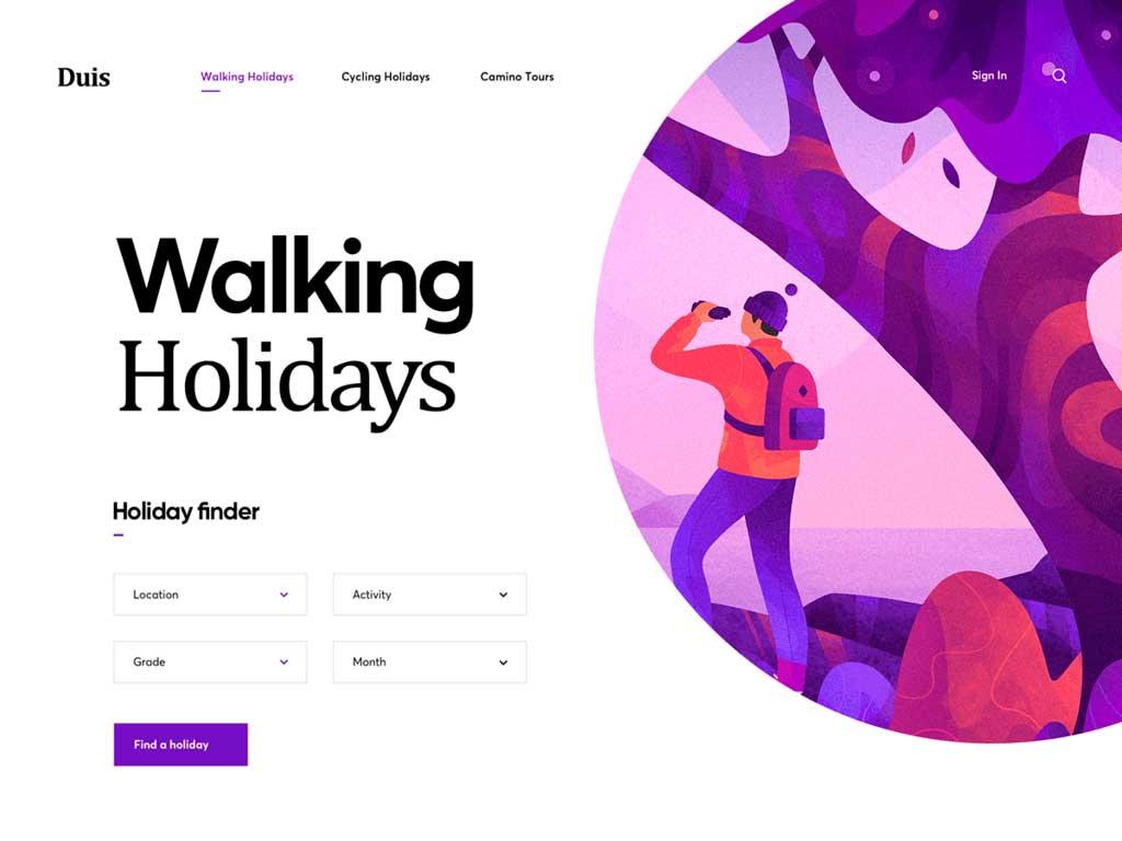 tendencias diseño web 2019 ilustraciones cuberto