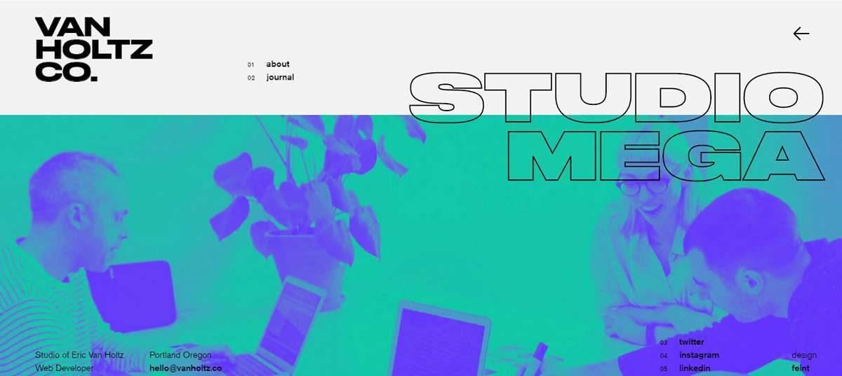 tendencias diseño web 2019 tipografia studio mega