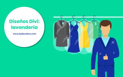 Ejemplo de página web para una lavandería (con WordPress y Divi)