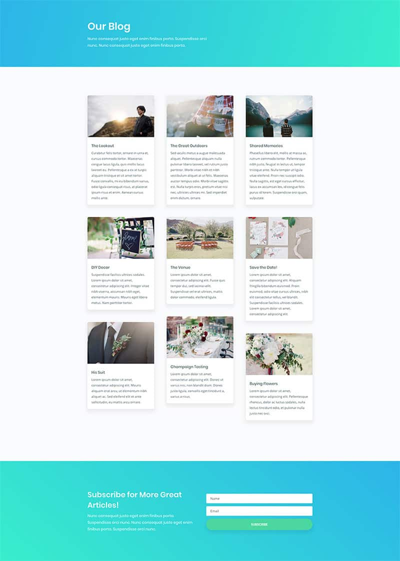 página web para un centro de yoga divi blog