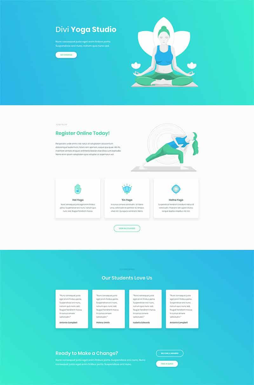 pagina-web-centro-yoga-divi-inicio