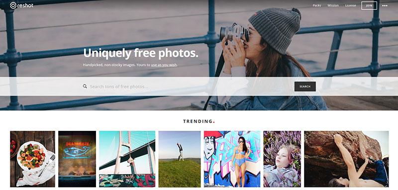bancos de imagenes gratis reshot