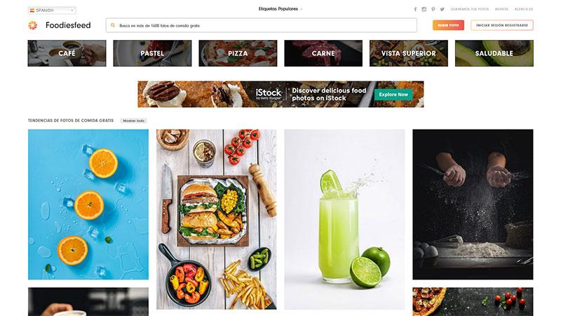 bancos de imagenes gratis Foodiesfeed