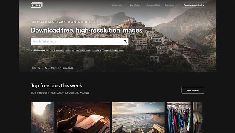 bancos de imagenes gratis burst