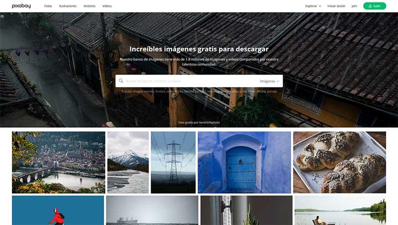 bancos de imagenes gratis pixabay